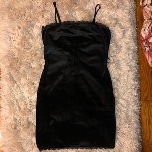Velvet Black Slip Dress